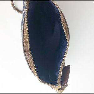 Coach Bags - Coach Blue Signature Wristlet Leather Strap